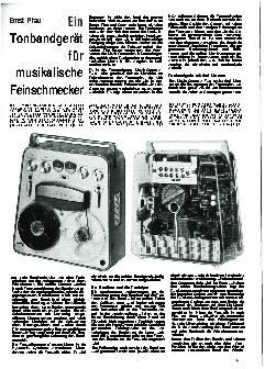 Ein Tonbandgerät für musikalische Feinschmecker