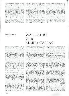 Wallfahrt zur Maria Callas