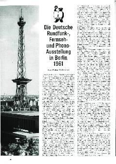 Die Deutsche Rundfunk-, Fernseh-, und Phono-Ausstellung in Berlin 1961