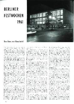 Berliner Festwochen 1961