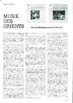 Musik des Orients