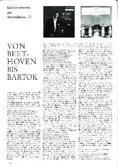 Von Beethoven bis Bartok