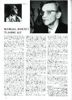Michael Bohnen 75 Jahre alt