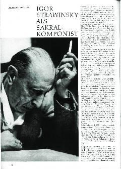 Igor Strawinsky als Sakral-Komponist