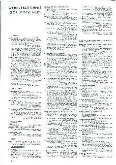 Werkverzeichnis Igor Strawinsky