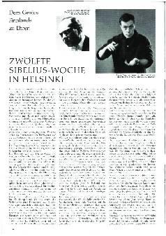 Zwölfte Sibelius-Woche in Helsinki