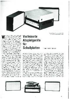 Verfeinerte Abspielgeräte für Schallplatten
