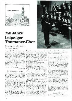 750 Jahre Leipziger Thomaner-Chor