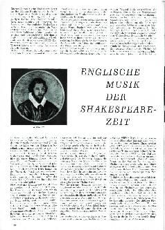 Englische Musik der Shakespeare-Zeit