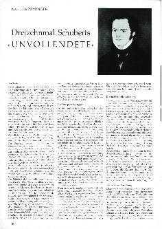 Dreizehnmal Schuberts Unvollendete