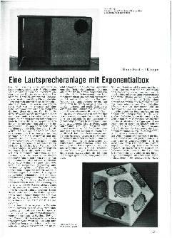 Eine Lautsprecheranlage mit Exponentialbox