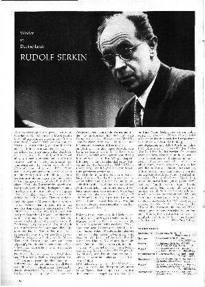 Wieder in Deutschland: Rudolf Serkin