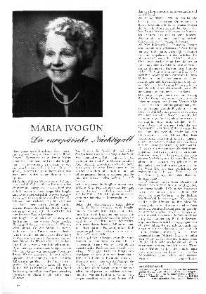Maria Ivogün