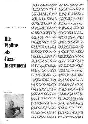 Die Violine als Jazz-Instrument
