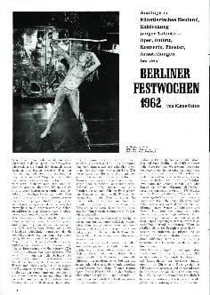 Berliner Festwochen 1962