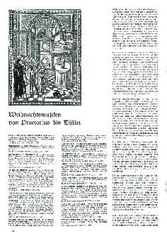 Weihnachtsmusiken von Praetorius bis Distler