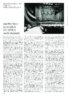 Das New Yorker Lincoln Center wurde eingeweiht