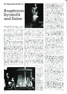 Im Opernhaus Hannover: Angsttraum Symbolik und Satire