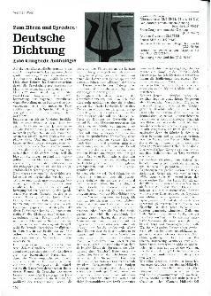 Zum Hören und Sprechen: Deutsche Dichtung
