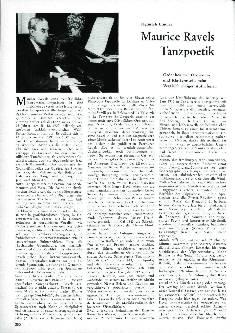 Maurice Ravels Tanzpoetik