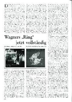 Wagners Ring jetzt vollständig