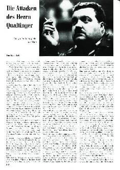 Die Attacken des Herrn Qualtinger