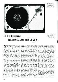 Für HiFi-Besessene: Thorens, SME und Decca