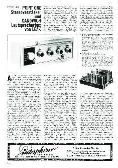 Point One Stereoverstärker und Sandwich Lautsprecherbox von Leak
