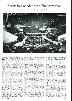 Berlin hat wieder eine Philharmonie