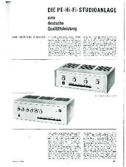 Die Pe-Hi-Fi-Studioanlage eine deutsche Qualitätsleistung