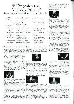 Elf Dirigenten und Schuberts Neunte