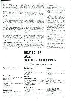 Deutscher Jazz-Schallplattenpreis 1963 der Deutschen Jazz-Föderation