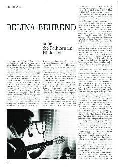 Belina-Behrend oder die Folklore im Hinterhof