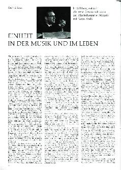 Einheit in der Musik und Leben