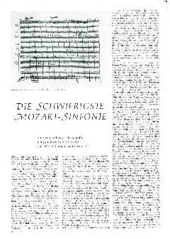 Die schwierigste Mozart-Sinfonie