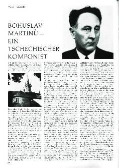 Bohuslav Martinu - Ein tschechischer Komponist