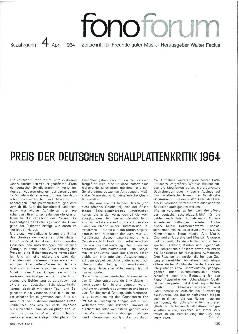 Preis der Deutschen Schallplattenkritik 1964