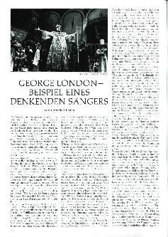 George London - Beispiel eines denkenden Sängers