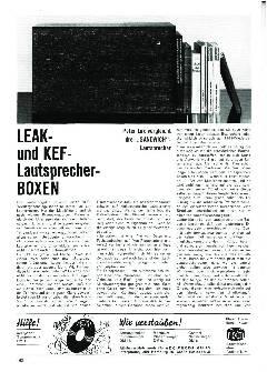 LEAK- und KEF-Lautsprecher-Boxen