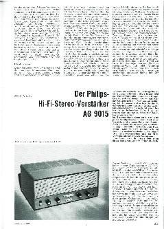 Der Philips-HiFi-Stereo-Verstärker AG 9015