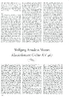 Wolfgang Amadeus Mozart Klavierkonzert C-Dur KV 467