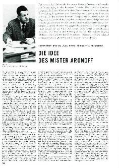 Die Idee des Mister Aronoff