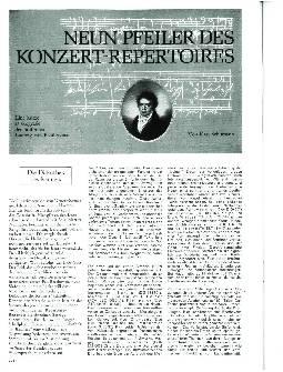 Neun Pfeiler des Konzert-Repertoires