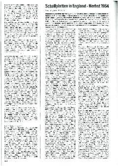 Schallplanen in England - Herbst 1964