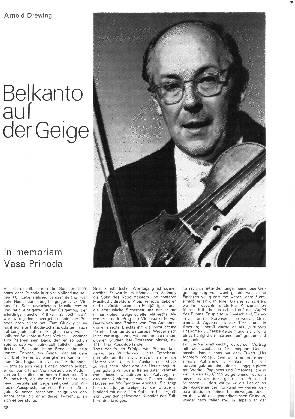 Belcanto auf der Geige