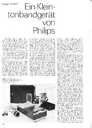 Ein Kleintonbandgerät von Philips