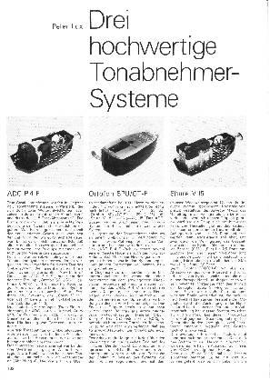 Drei hochwertige Tonabnehmer-Systeme