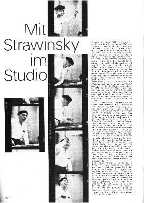 Mit Strawinsky im Studio