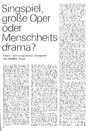 Singspiel, große Oper oder Menschheitsdrama?