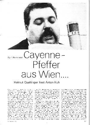 Cayenne-Pfeffer aus Wien...